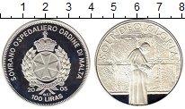 Изображение Монеты Мальтийский орден 100 лир 2005 Серебро Proof