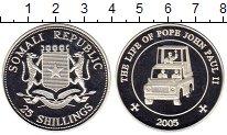 Изображение Монеты Сомали 25 шиллингов 2005 Серебро Proof Иоанн Павел II