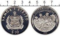 Изображение Монеты Самоа 10 долларов 1996 Серебро Proof Викторианский период