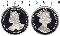 Изображение Монеты Гибралтар 1 крона 1999 Серебро Proof Династия Норманов. В