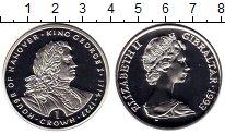 Изображение Монеты Гибралтар 1 крона 1993 Серебро Proof Гановерская династия