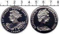 Изображение Монеты Гибралтар 1 крона 1993 Серебро Proof
