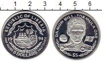 Изображение Монеты Африка Либерия 5 долларов 1994 Серебро Proof