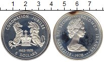 Изображение Монеты Австралия и Океания Соломоновы острова 5 долларов 1978 Серебро Proof-