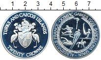 Изображение Монеты Великобритания Теркc и Кайкос 20 крон 1992 Серебро Proof-