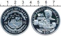 Изображение Монеты Африка Либерия 10 долларов 1992 Серебро Proof