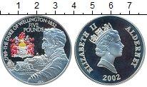 Изображение Монеты Великобритания Олдерни 5 фунтов 2002 Серебро Proof