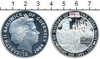Изображение Монеты Гернси 5 фунтов 2004 Серебро Proof-