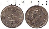 Изображение Монеты Гонконг 1 доллар 1960 Медно-никель XF- Елизавета II