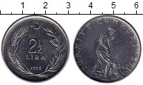 Изображение Монеты Турция 2 1/2 лиры 1978 Медно-никель UNC-