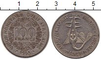 Изображение Монеты Великобритания Западная Африка 100 франков 1968 Медно-никель XF