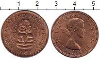 Изображение Монеты Австралия и Океания Новая Зеландия 1/2 пенни 1964 Бронза XF