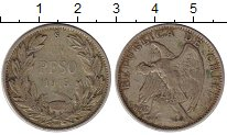 Изображение Монеты Чили 1 песо 1915 Серебро VF+