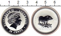 Изображение Монеты Австралия 50 центов 2007 Серебро Proof