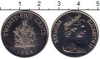 Изображение Монеты Великобритания Бермудские острова 25 центов 1984 Медно-никель UNC-
