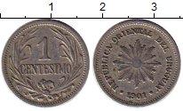 Изображение Монеты Южная Америка Уругвай 1 сентесимо 1901 Медно-никель XF
