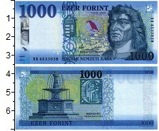 Изображение Банкноты Венгрия 1000 форинтов 2018  UNC