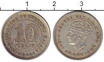 Изображение Монеты Малайя 10 центов 1939 Серебро XF