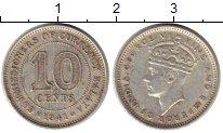 Изображение Монеты Великобритания Малайя 10 центов 1941 Серебро XF