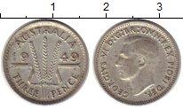 Изображение Монеты Австралия 3 пенса 1949 Серебро XF