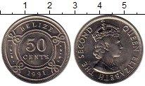 Изображение Монеты Белиз 50 центов 1991 Медно-никель UNC-