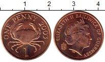 Изображение Монеты Гернси 1 пенни 2003 Бронза UNC- Елизавета II