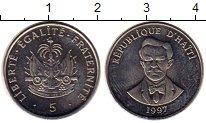 Изображение Монеты Гаити 5 сентим 1997 Медно-никель UNC- Шарлемань Перальт