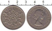 Изображение Монеты Великобритания 2 шиллинга 1966 Медно-никель VF