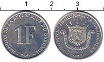 Изображение Монеты Африка Бурунди 1 франк 1993 Алюминий UNC-
