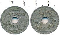 Изображение Монеты Тунис 25 сантим 1919 Медно-никель VF