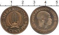 Изображение Монеты Сьерра-Леоне 1 цент 1964 Латунь UNC-