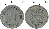 Изображение Монеты Европа Германия 10 пфеннигов 1875 Медно-никель XF-