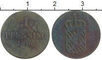 Изображение Монеты Бавария 1 пфенниг 1809 Медь VF