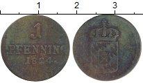 Изображение Монеты Бавария 1 пфенниг 1824 Медь VF
