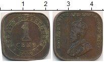 Изображение Монеты Великобритания Стрейтс-Сеттльмент 1 цент 1920 Бронза VF