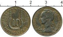 Изображение Монеты Африка Мадагаскар 10 франков 1953 Латунь VF