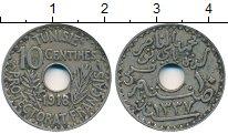 Изображение Монеты Тунис 10 сантим 1918 Медно-никель VF