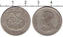 Изображение Монеты Колумбия 20 сентаво 1953 Серебро VF Симон Боливар