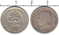 Изображение Монеты Сальвадор 25 сентаво 1952 Серебро VF