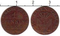 Изображение Монеты Пруссия 1 пфенниг 1821 Медь VF А