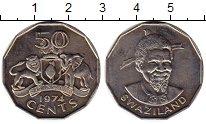 Изображение Монеты Свазиленд 50 центов 1974 Медно-никель XF