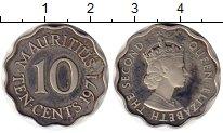 Изображение Монеты Маврикий 10 центов 1971 Медно-никель Proof- Елизавета II