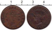 Изображение Монеты Цейлон 1 цент 1870 Медь XF Виктория