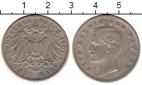 Изображение Монеты Бавария 2 марки 1901 Серебро VF D Отто