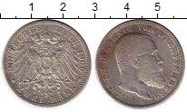 Изображение Монеты Вюртемберг 2 марки 1900 Серебро VF F Вильгельм II