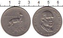 Изображение Монеты ЮАР 1 ранд 1982 Медно-никель XF