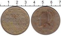 Изображение Монеты Либерия 1 доллар 1968 Медно-никель VF+