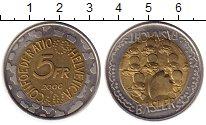 Изображение Монеты Европа Швейцария 5 франков 2000 Биметалл UNC-