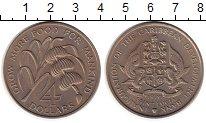 Изображение Монеты Северная Америка Сент-Люсия 4 доллара 1970 Медно-никель UNC-