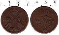 Изображение Монеты Швеция 1 эре 1737 Медь VF